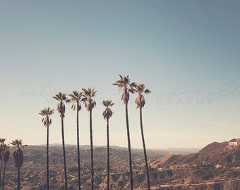 Hollywood Hills Photography, Los Angeles Photograph, Southern California Art, poster size print, large wall art, Hollywood Photography