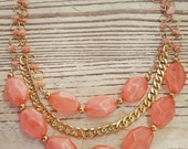 Coral Necklace - Coral Statement Necklace - Pink Coral Necklace - Coral Jewelry
