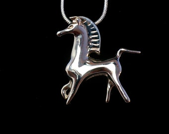 Bucephalus Pendant from Black Stallion film! Sterling Silver. Fantastic Collectible Classic!