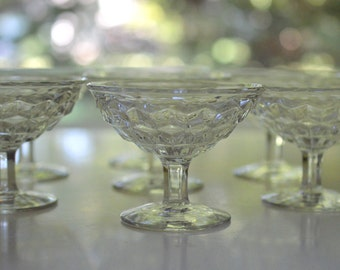 American Fostoria Sherbet Ice Cream Dishes Pedestal Set of 7