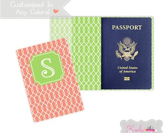 Personalized Passport Cover - Heavy Vinyl with Cardstock Insert - You Choose Colors & Personalization Style - US Passport - Link