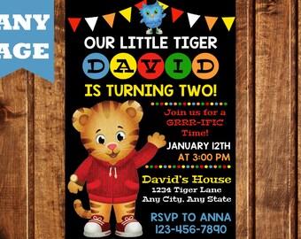 Daniel Tiger's Neighborhood Birthday Invitation, Daniel Tiger Birthday, Daniel Tiger Invitation, Daniel Tiger's Neighborhood Invitation