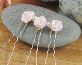 Delicate Paper Flower Bobby Pins
