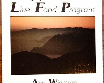 SALE 50% OFF Vintage health book:  Hippocrates Live Food Program