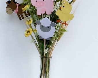 Farm Centerpiece Sticks / Barnyard Party / Farm Theme
