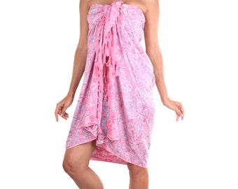 Pink Batik Sarong. Made in Bali