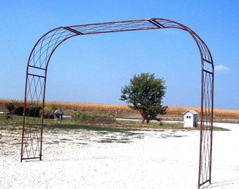 BIG 9 ft. Wide Wrought Iron Driveway Arbor Offered in Many Colors