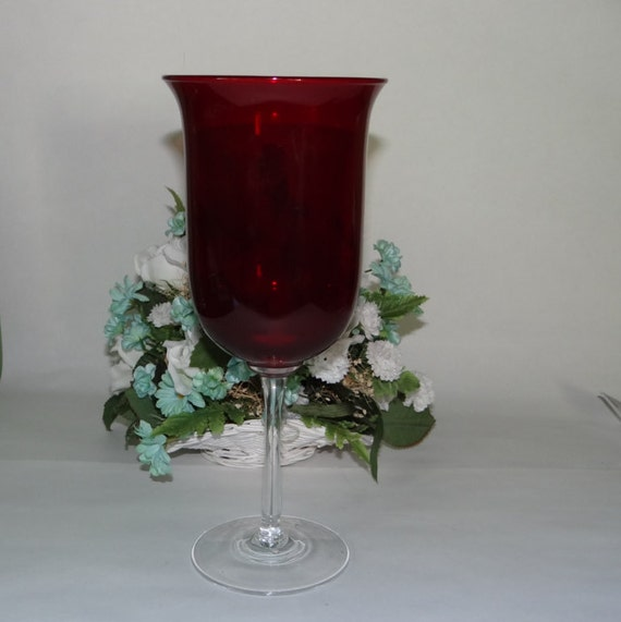 Red Votive Candle Holder Partylite stemmed by ...