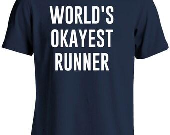 Runner Shirt-World's Okayest Runner T Shirt Gift for Men