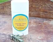 Natural Lavender Deodorant, Lavender Essential Oil Deodorant, Aluminum Free Deodorant, Organic Citrus Deodorant for Women, Gentle Deodorant