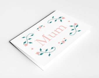 Mothers Day card with special message inside - Happy Mother's Day - Greetings Card - MUM - Birthday Card - Mothers Day Gift