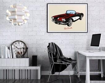 Corvette. High Quality Print.