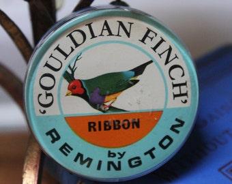 Vintage Gouldian Finch typewriter Ribbon Royal Remington