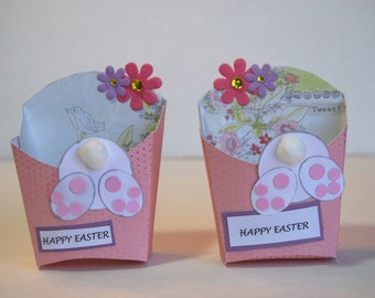 Happy Easter Bunny Fry Box - Candy, Treat Holder, Easter Party Favor