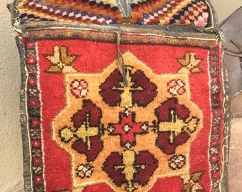 Antique KILIM Saddle Bag Vintage tapestry TURKISH Wool Saddle Bag Woven Tribal Boho Kilim Bag Ethnic Decor Interior Design LA