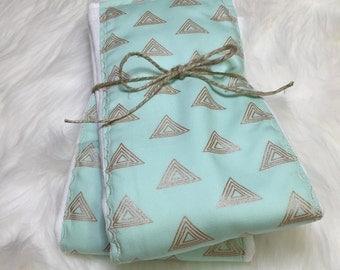 Mint Burp Cloth - Mint - Burp Cloth - Gold Triangle