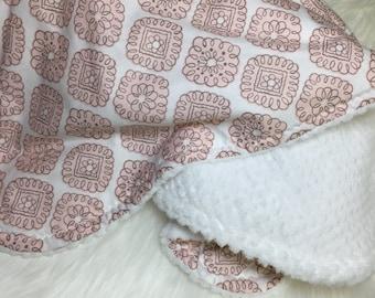 Minky Blanket Girl - Pink - Minky Blanket - Diamond
