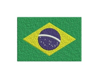 Machine Embroidery Design Instant Download - Brazil Flag