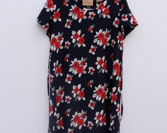 Navy Rose Garden Dress
