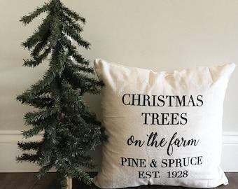 Christmas tree pillow cover