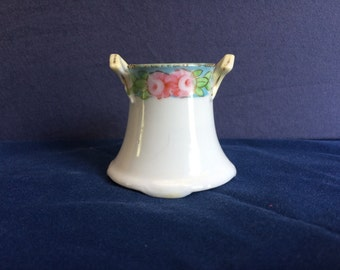 Handpainted porcelain toothpick holder