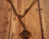 TicToc - Skeleton Key Jewelry - Long Necklace - Key Necklace - Ornate Key - Brass Necklace - Boho Jewelry - Hippie Jewelry - Hipster Jewelry