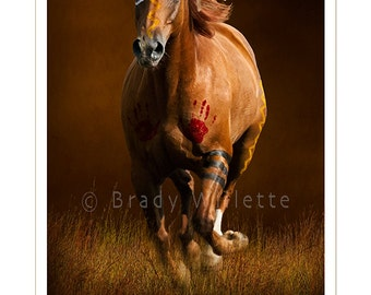 Poster of Sioux War Pony-1 Painted War Horse