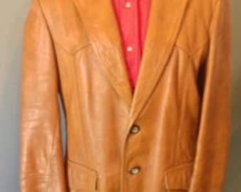sidney's vintage leather coat