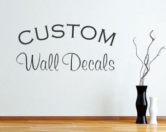 custom wall decals create your own wall decal vinyl lettering home decor - Design Your Own Wall Art Stickers
