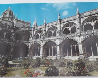 Vintage postcard from Portugal Lisboa Claustro do Mosteiro dos Jeronimos