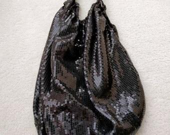 Black Sequined Bag