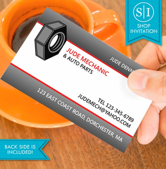 Auto repair business card free shipping from shopinvitation on auto repair business card free shipping from shopinvitation on etsy studio reheart Choice Image