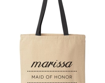 Maid of Honor Gift | Custom Maid of Honor Tote Bag | Maid of Honor Proposal Gift