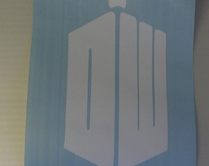Doctor Who Tardis Vinyl Decal
