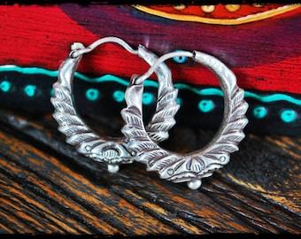 Ethnic Tribal Hoop Earrings