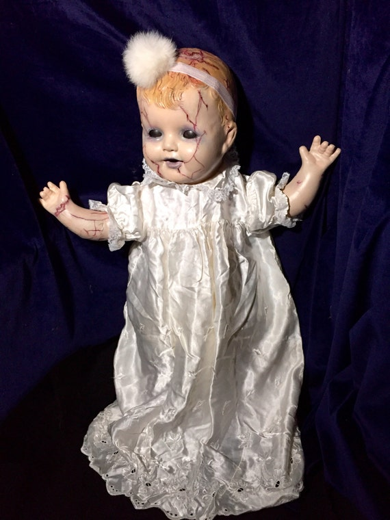Mildread Shadder Original Vintage Cracked Flesh Composite Head And Limbs  Undead Christening Horror Doll Biohazard Baby