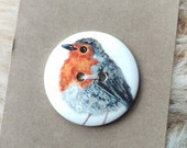 Reserved listing for Linda: Handmade Robin Button