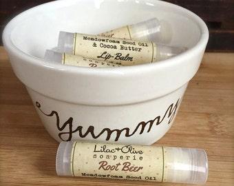 Root Beer Lip Balm - Meadowfoam Seed Oil - Cocoa Butter - Beeswax - Avocado Oil - Vitamin E