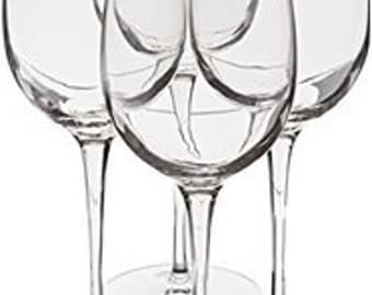 Create your own ***Set of 4***  hand painted wine glasses