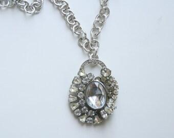 Vintage Rhinestone Bling Necklace