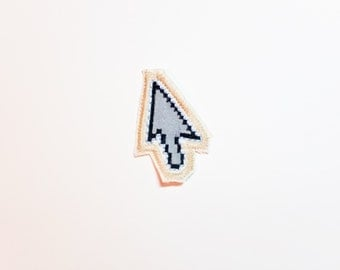Cursor Patch - Hand Embroidered and Painted Internet Patch