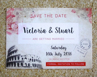 Rome Inspired Save The Dates
