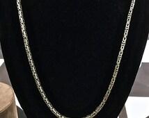 Men's Sterling Silver Byzantine Chain