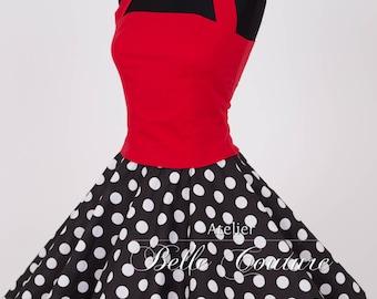 Custom Made & Handmade - 50s Corset Top red