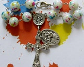 Teen Driver Chaplet *Catholic,Christian,prayer,crucifix,St Christopher,driving,guardian angel,rosary,travel rosary,for teens,unique rosary