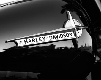 Harley Davidson photo print, motorcycle art photography, black and white paper picture, canvas wall decor 5x7 8x10 11x14 12x12 16x20 24x36