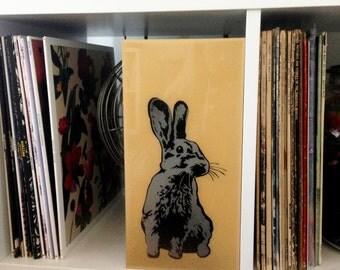 Grey Rabbit, Bunny, Wall Art Stencil, Spray Paint