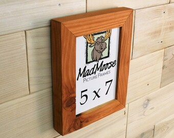 "5x7 Reclaimed Redwood [Chunky x 1.25""] Picture Frame"