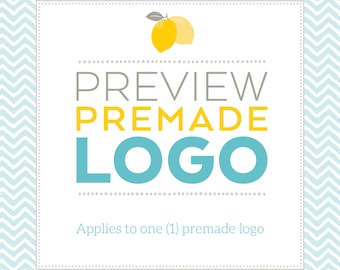 Preview Premade Logo with your shop name