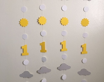 You Are My Sunshine Garland You Are My Sunshine 1st Birthday Decoration You Are My Sunshine Birthday Decorations I am 1 Decor Custom Colors